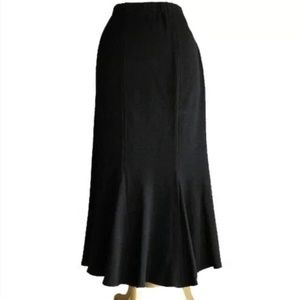 St. John Collection Knit Midi Flare Skirt